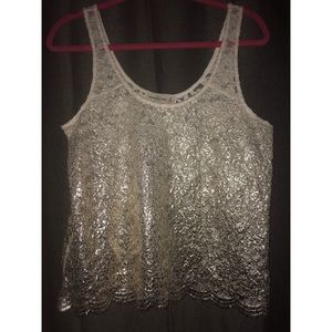 Abercrombie & Fitch Ombre Shimmer Lace Tank Top